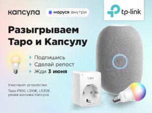 Конкурс TP-Link Россия вместе с Марусей & Капсулой!